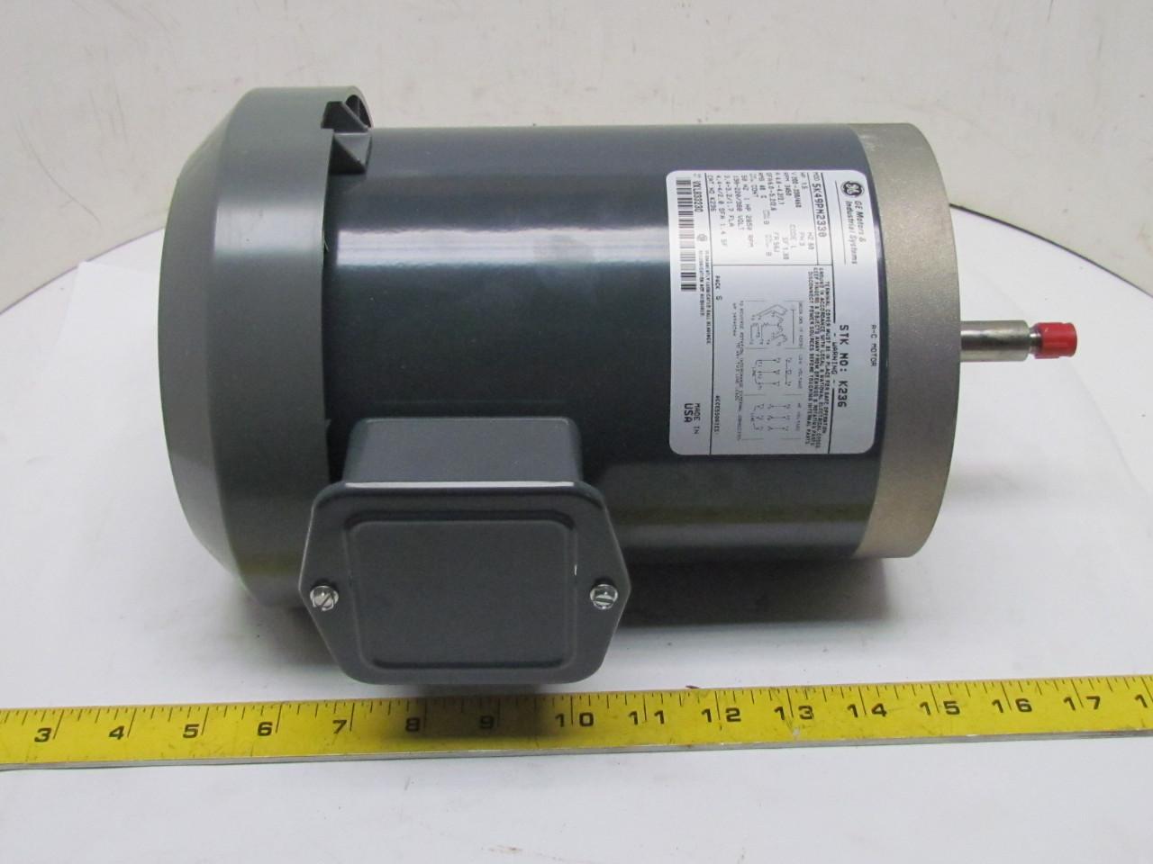 Ge general electric 5k49pn2330 motor 1 5hp 3450 rpm 3ph for 1 rpm electric motor
