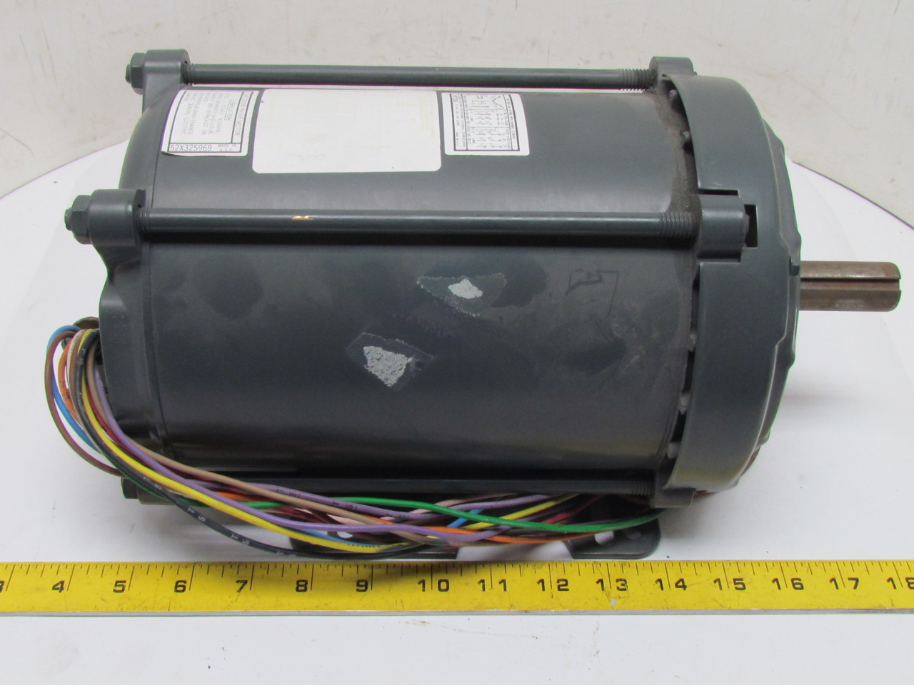 Ge general electric motor 2 hp 1725 rpm 3ph 230 460v 145t for 2 hp electric motor 1725 rpm