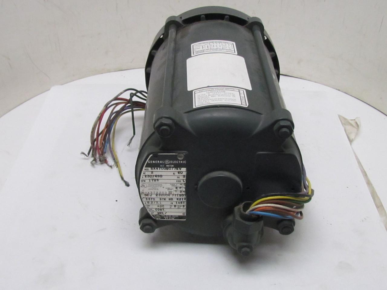 Ge general electric motor 2 hp 1725 rpm 3ph 230 460v 145t for Hazardous location motor starter