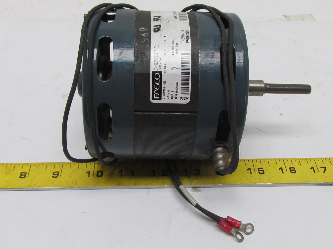Fasco Type U8b1 Electric Motor 1 15hp Single Phase 460 380