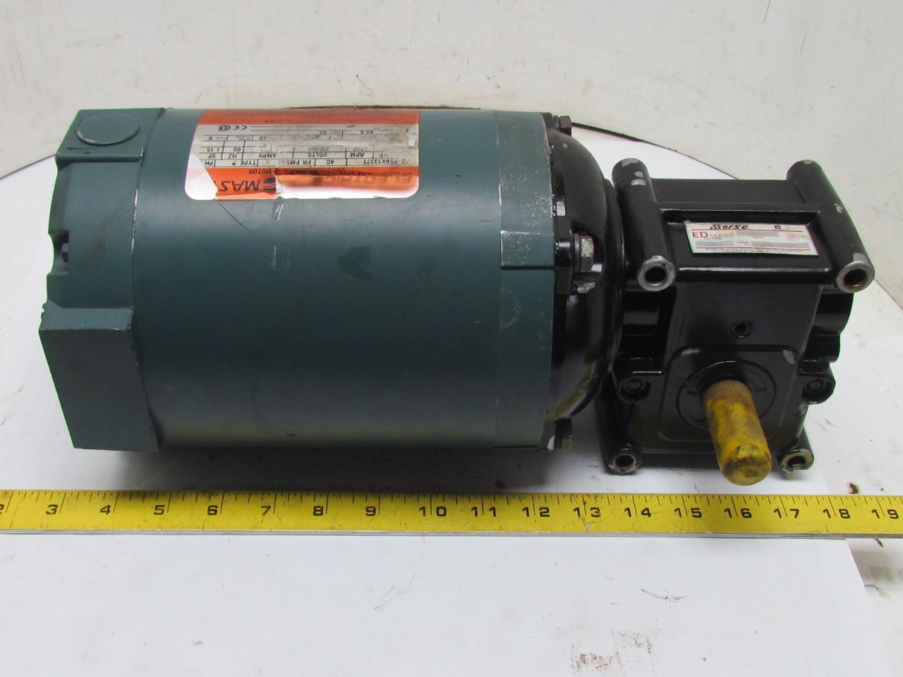 Reliance P56x1337t 3ph 3 4hp Motor W 15gedc Morse 20 1
