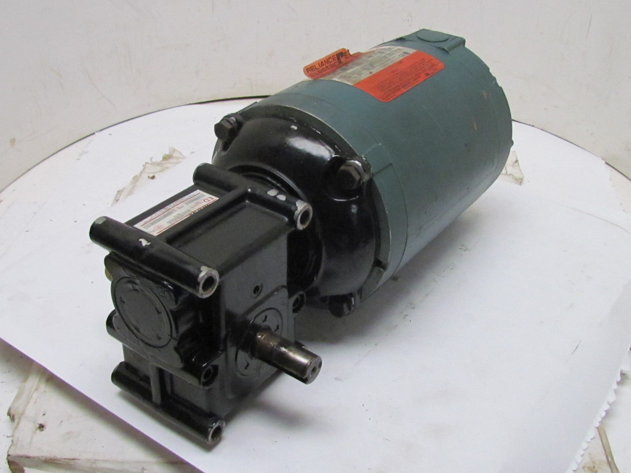 Reliance p56x1337t 3ph 3 4hp motor w 15gedc morse 20 1 for Speed reducers for electric motors