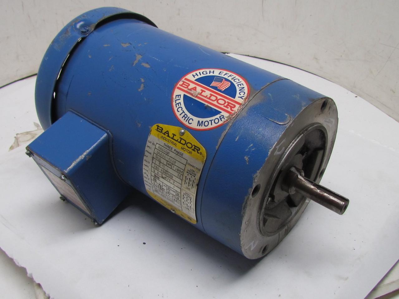Baldor Vm3556 35a13 1272 3 Phase Ac Electric Motor 1hp