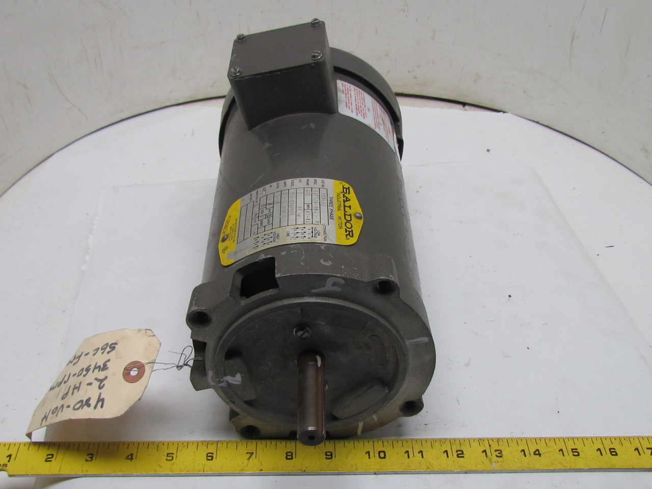 Baldor vm3155 34f140 284 3 phase ac electric motor 2hp for 3 phase dc motor