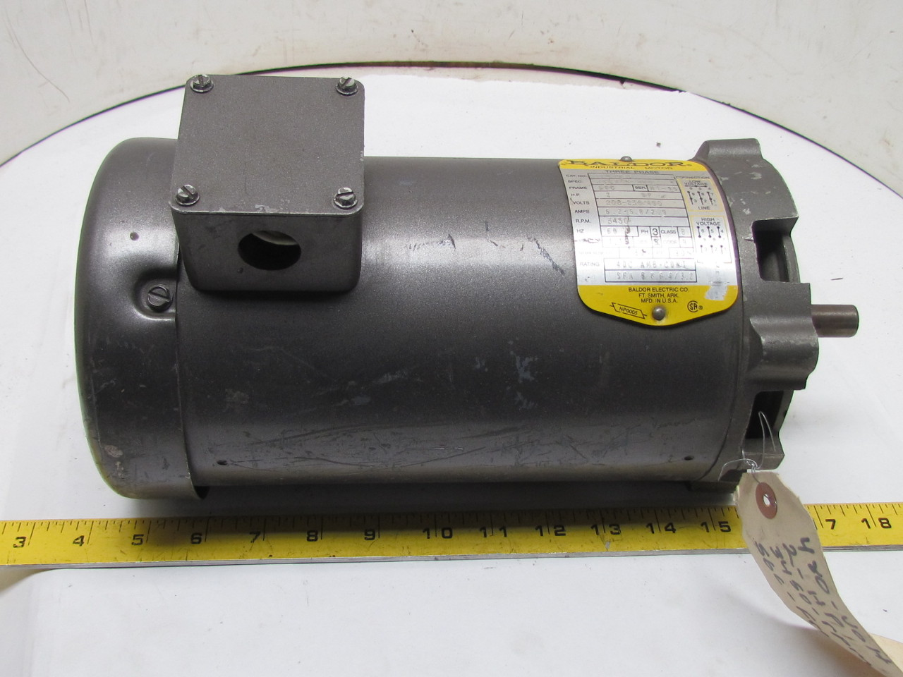Baldor vm3155 34f140 284 3 phase ac electric motor 2hp for 2 hp 3 phase motor