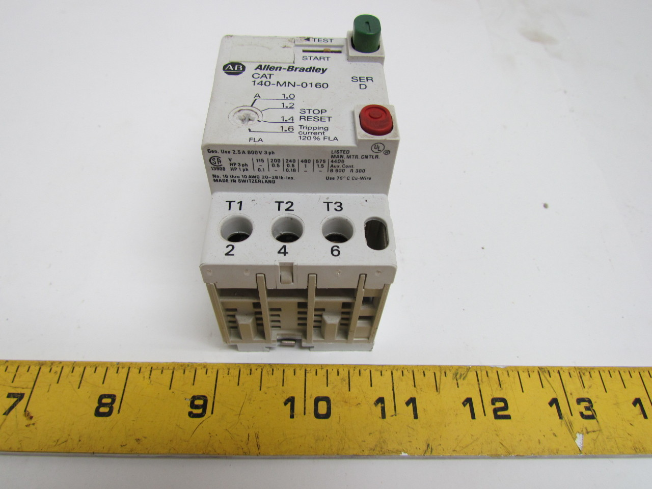 Allen Bradley 140 Mn 0160 Series D Manual Motor Starter 2
