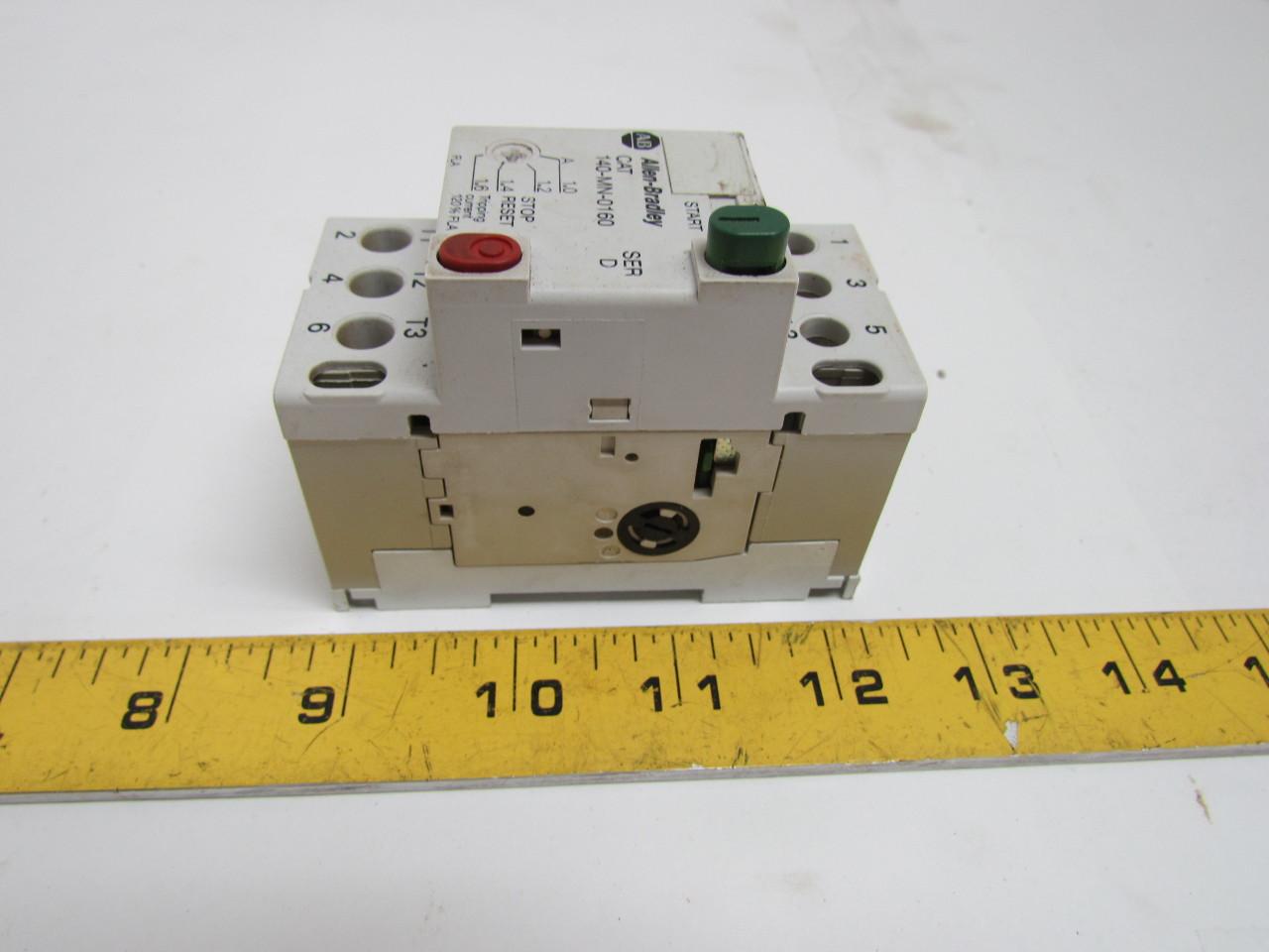Allen bradley 140 mn 0160 series d manual motor starter 2 for Allen bradley manual motor starter
