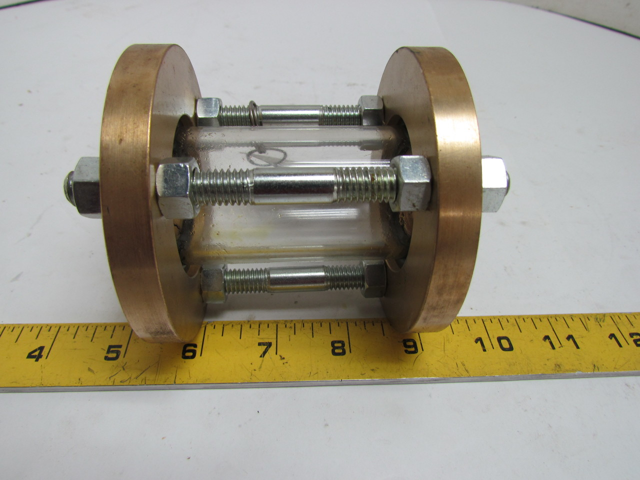 Jacoby Tarbox 805s Sfi Tube Sight Glass Flow Indicator 3 4 Npt 150 Psi Bronze Ebay