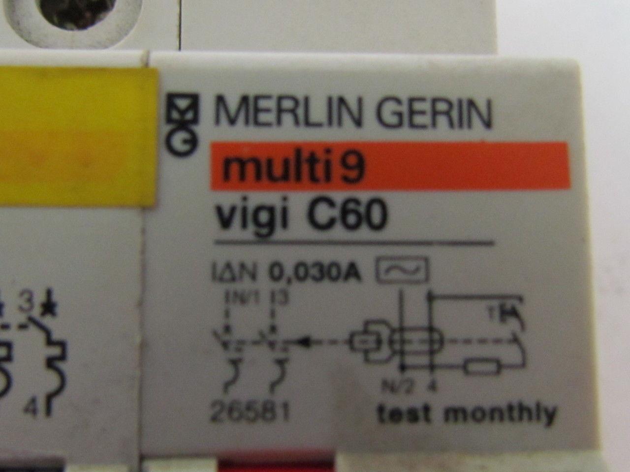 Merlin gerin multi 9 c60n 24263 2 pole circuit breaker c1 - Merlin gerin multi 9 ...