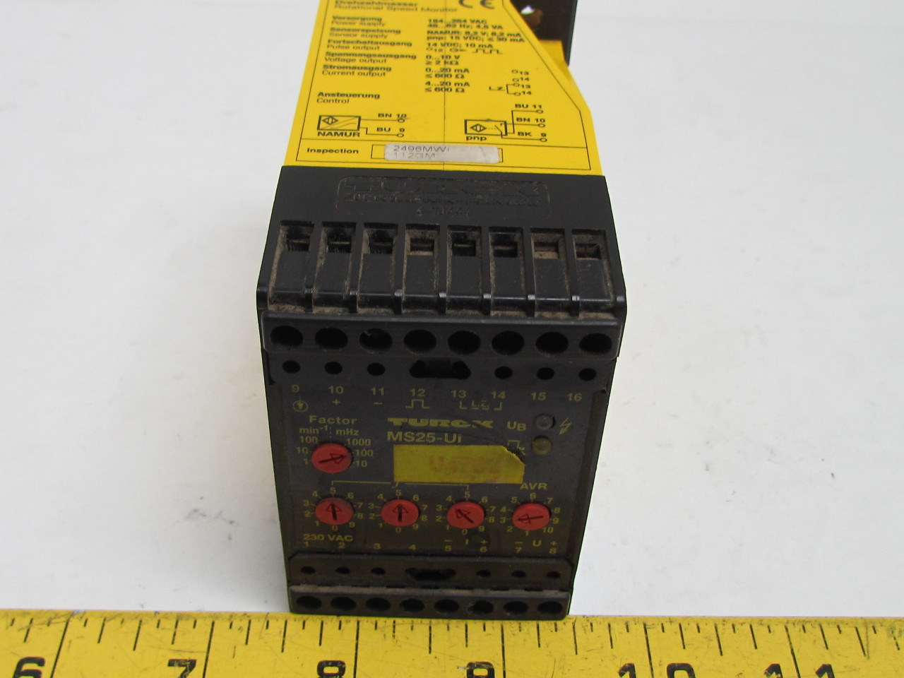 Rotating Speed Monitor : Turck ms ui rotational speed monitor digital to analog