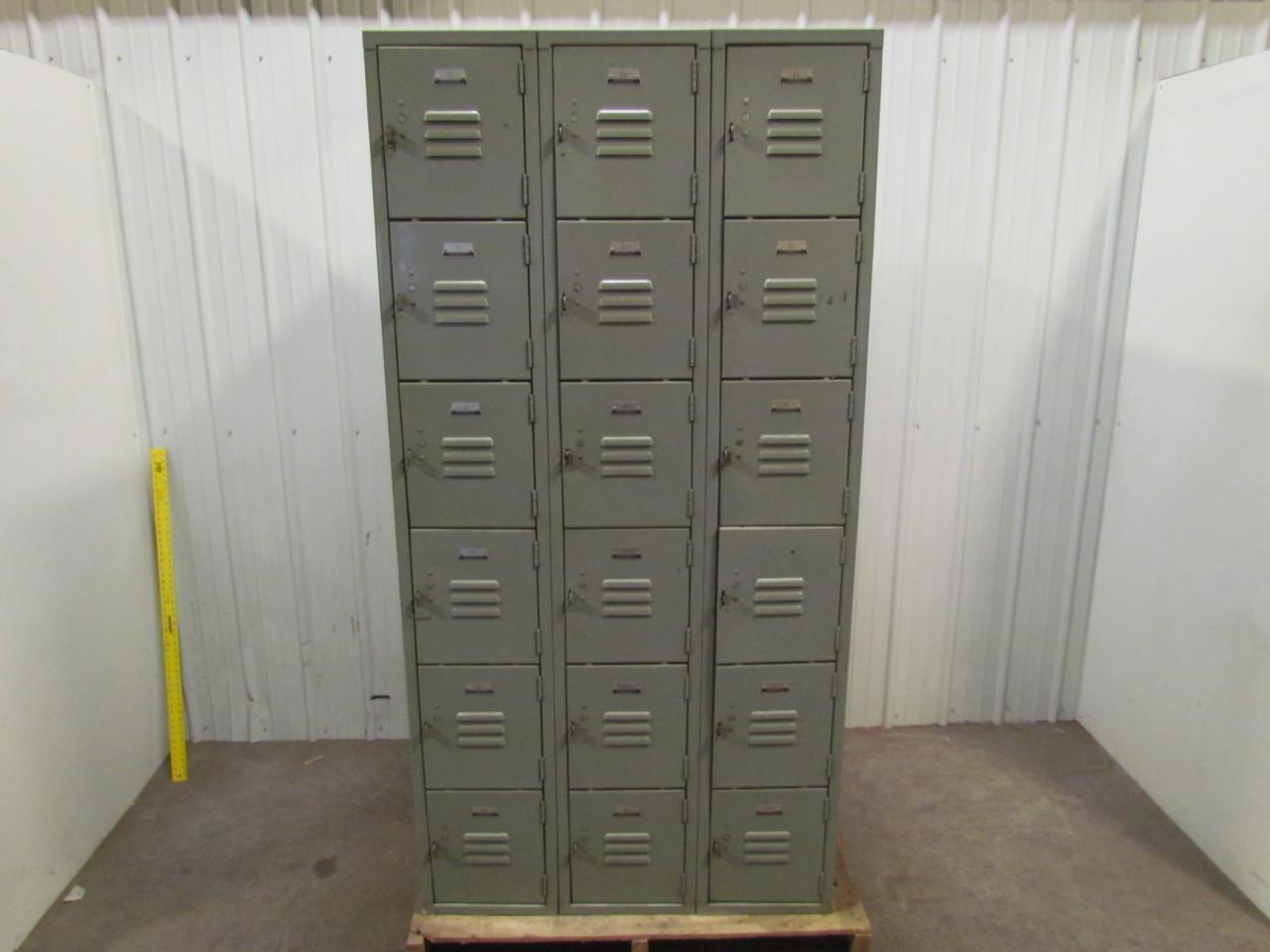 6 door 3 column steel school gym locker 12x34x20 for 12 door lockers