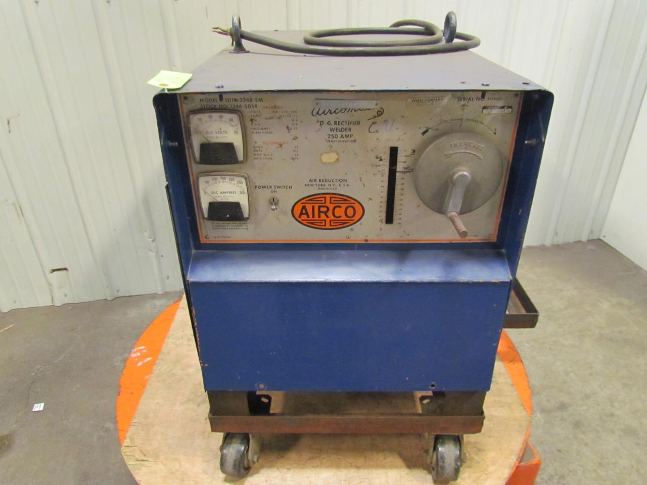 airco aircomatic 250a dc rectifier welder 208 230 460v 3ph. Black Bedroom Furniture Sets. Home Design Ideas