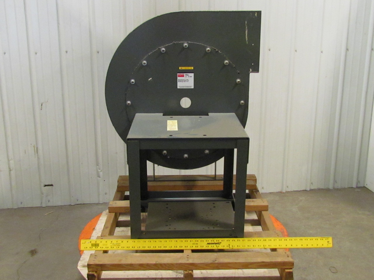 Radial Blade Blowers : Dayton c a frame housing only belt drive radial blade