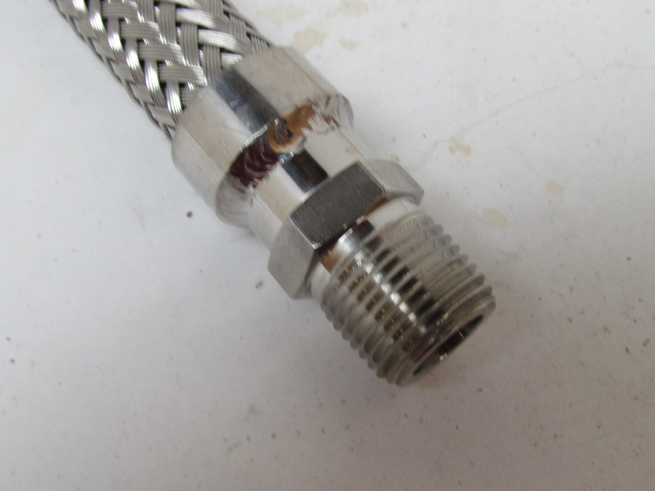 Stainless steel braided hose flexible connector fitting