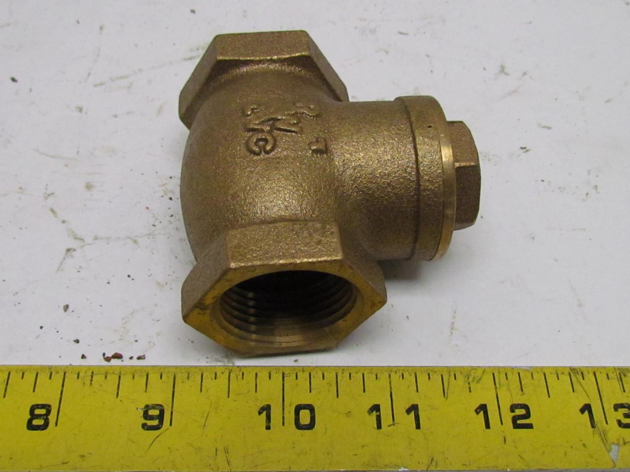 Rwvc quot npt brass swing check valve tee fitting wog ebay