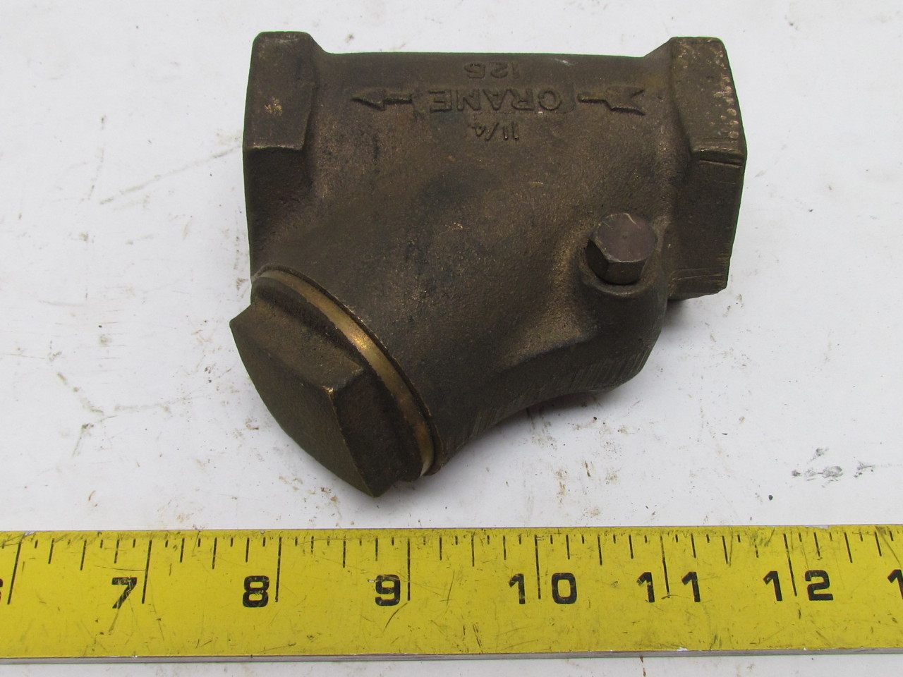 Crane quot npt brass y swing check valve pipe fitting