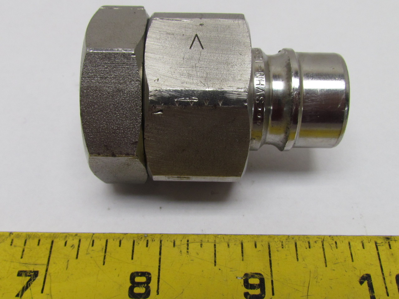 Stainless Hydraulic Quick Coupler : Quot npt quick connect release hydraulic coupling h shape