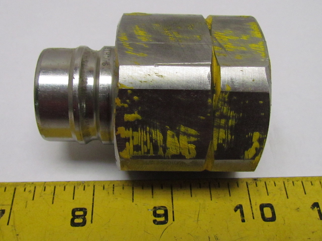 Stainless Hydraulic Quick Coupler : Svhn quot female npt hydraulic quick coupling hose coupler