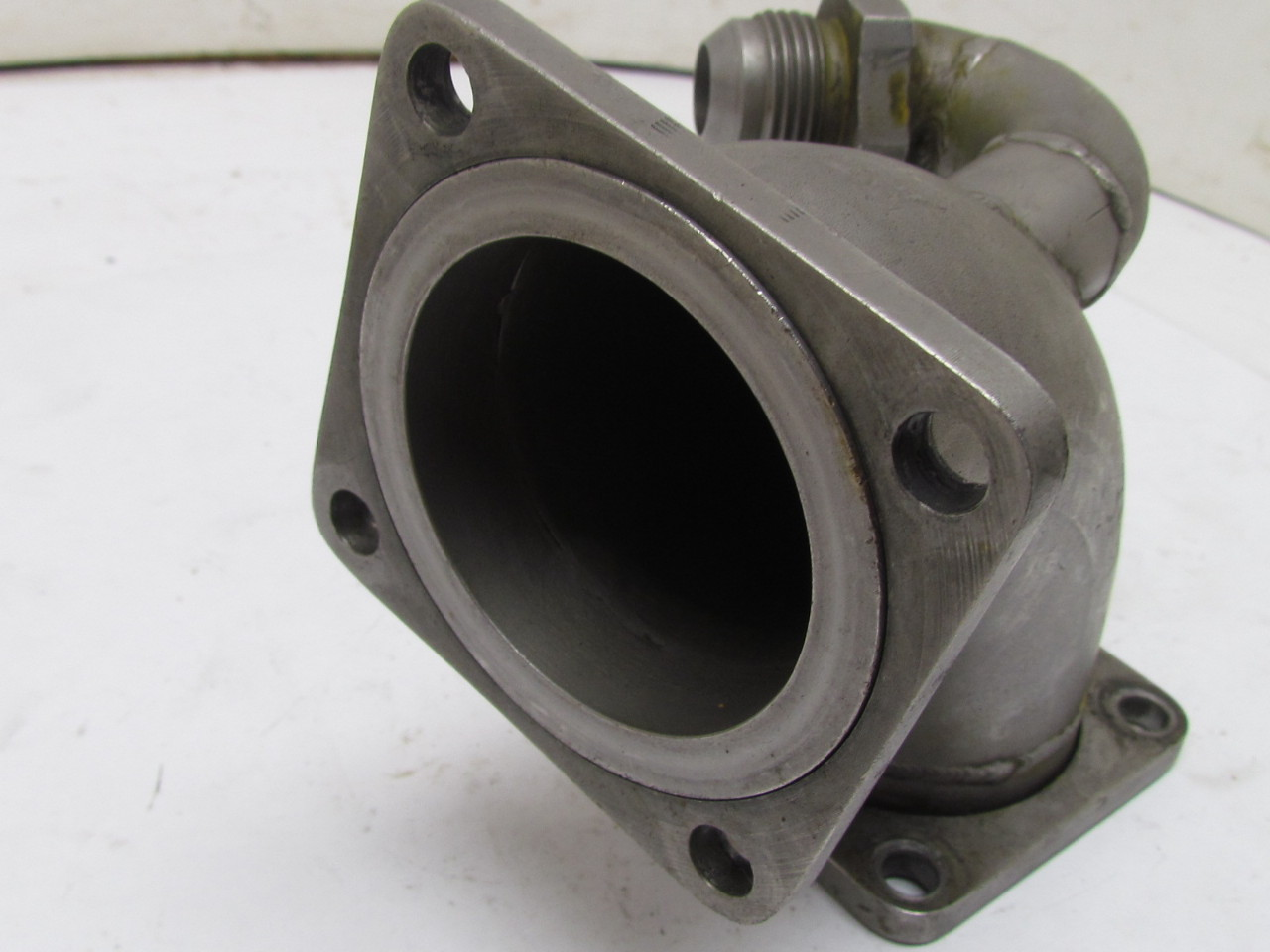 Stainless steel flanged end deg elbow pipe fitting