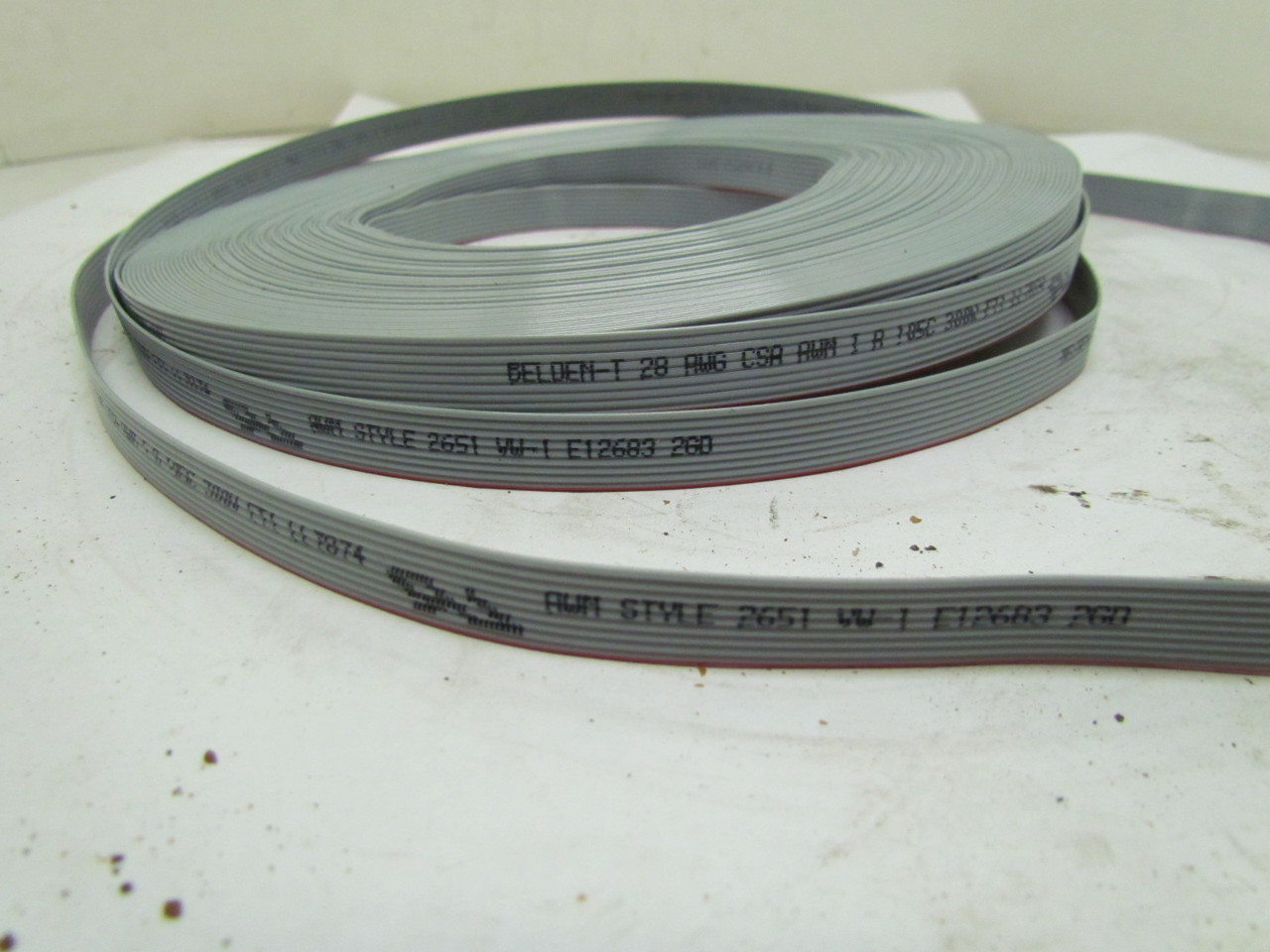 Flat Conductor Cable : Belden conductor awg flat cable v roll style