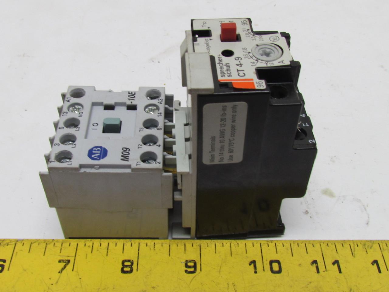 Allen bradley 100 mo9nz 3 24vdc contactor motor starter w for Allen bradley motor overload