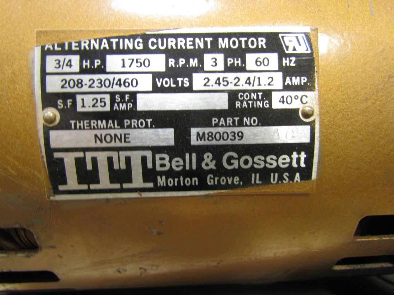 M80039 Bell Gossett Amp Wiring Diagram B37ta79 3pd Flanged Bronze In Line Booster