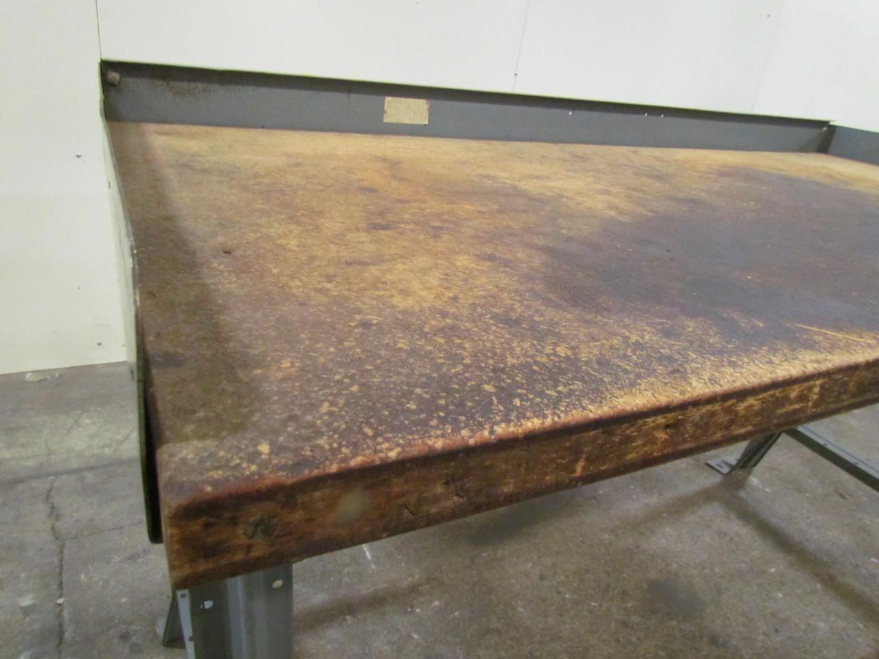 Adjustable Height Welded Steel Frame Workbench Table