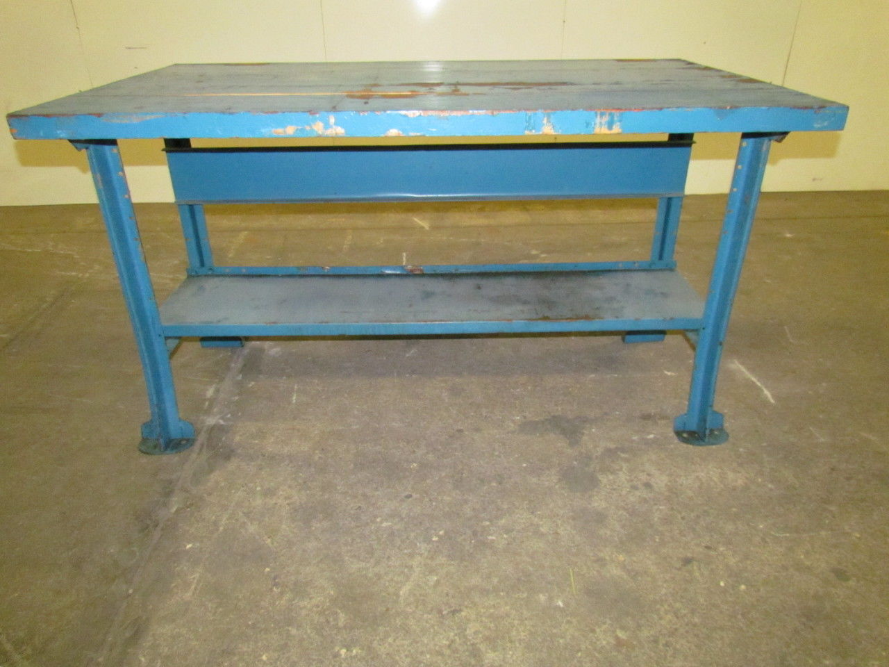 Vintage industrial butcher block workbench table reloading bench 60x30x34 30 bench