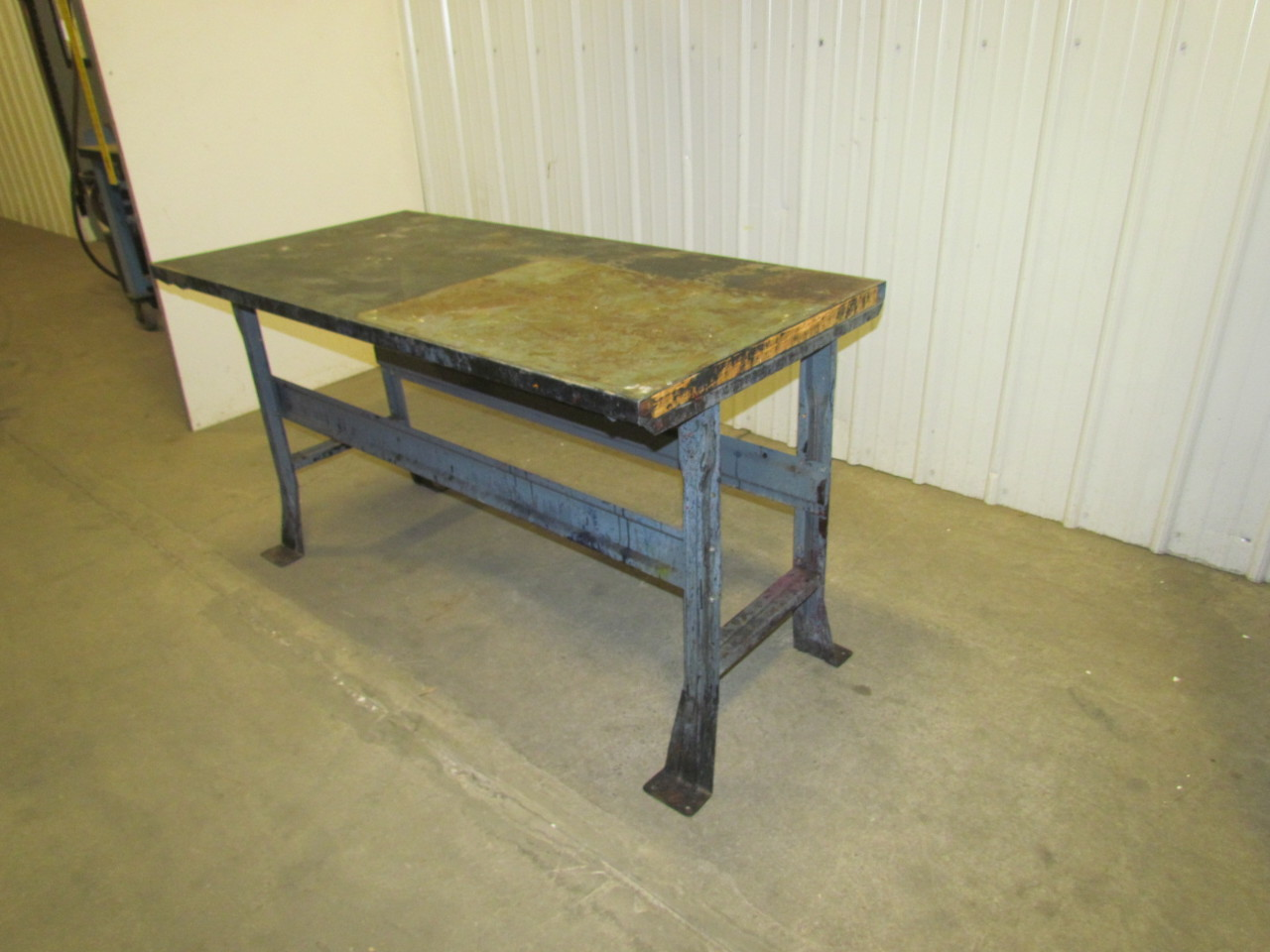 4 Leg Steel Workbench Table Vintage Industrial Gray 60 X30 X33 Height Ebay