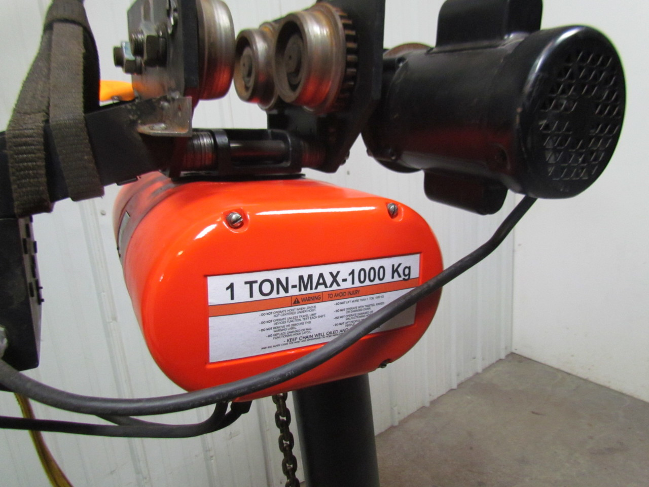 cm lodestar l 1 ton electric chain hoist 19 39 lift 635 motor On cm lodestar 1 ton motor
