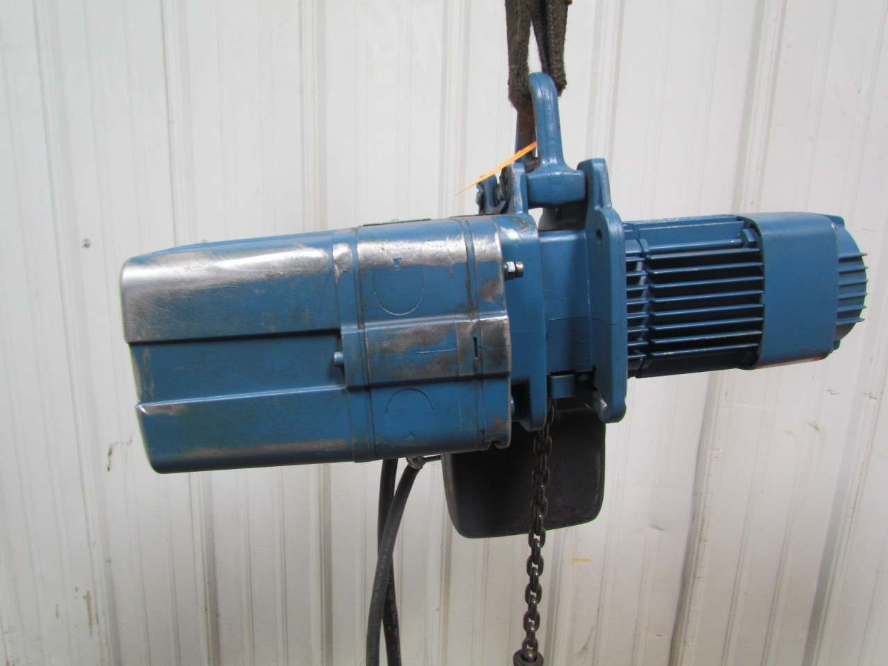 Demag dkun 5 500 k v1 1 2 ton 1000 lb electric chain hoist for 1 4 ton chain motor