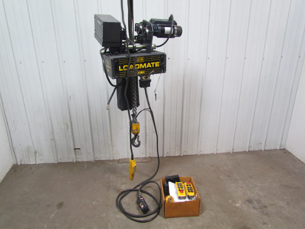 R m loadmate lm10 2 ton 4000lb electric chain hoist 16 for 2 ton hoist with motorized trolley