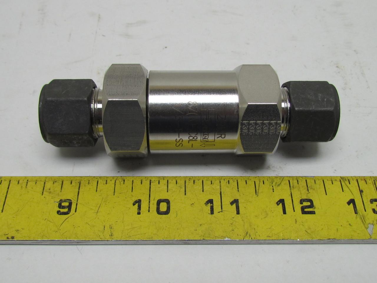 Parker z c l t ss stainless check valve quot cpi