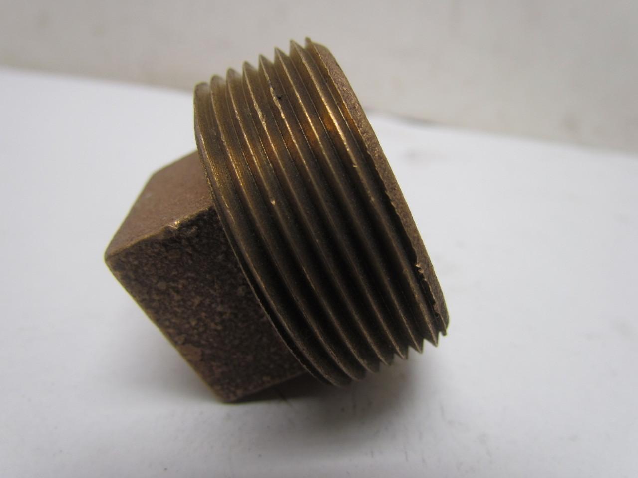 Class square head cast brass pipe plug fitting