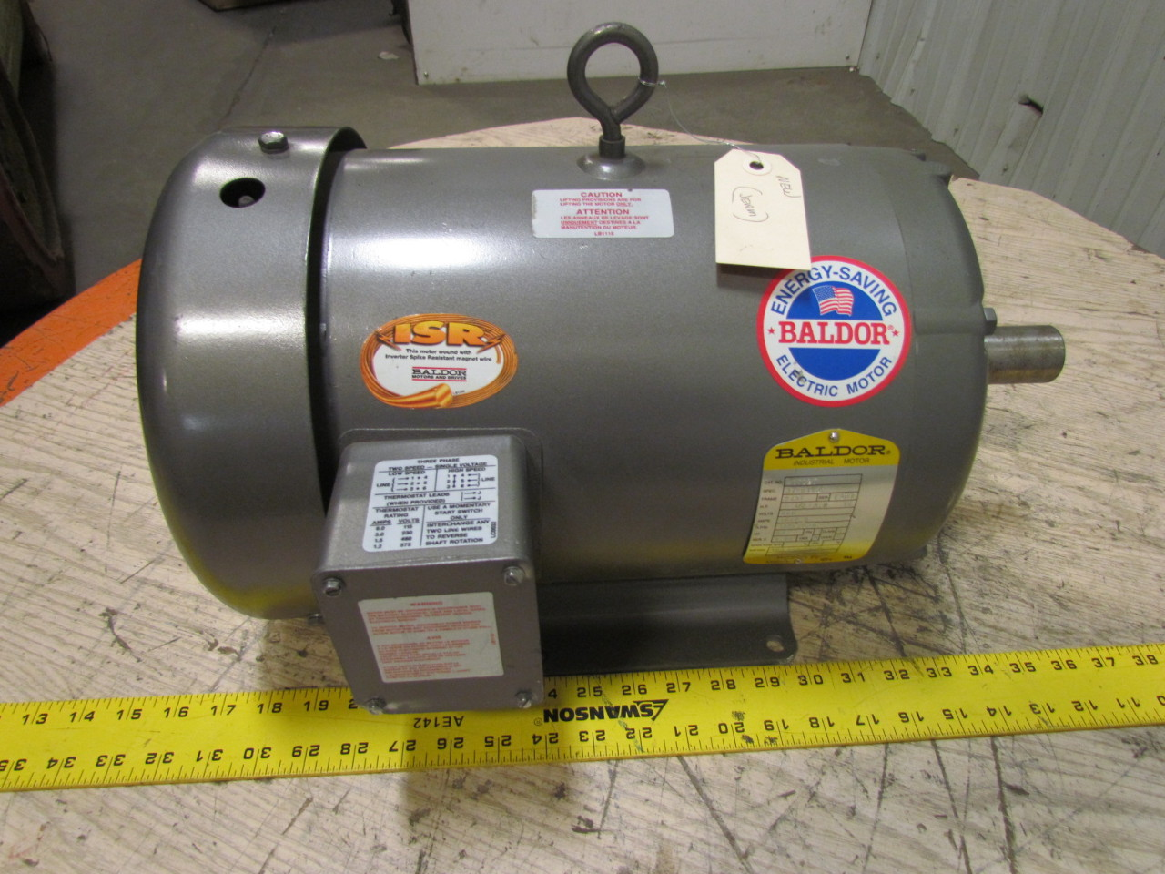 Baldor M1709t 3 Phase Ac Electric Motor 1725 850 Rpm 460v
