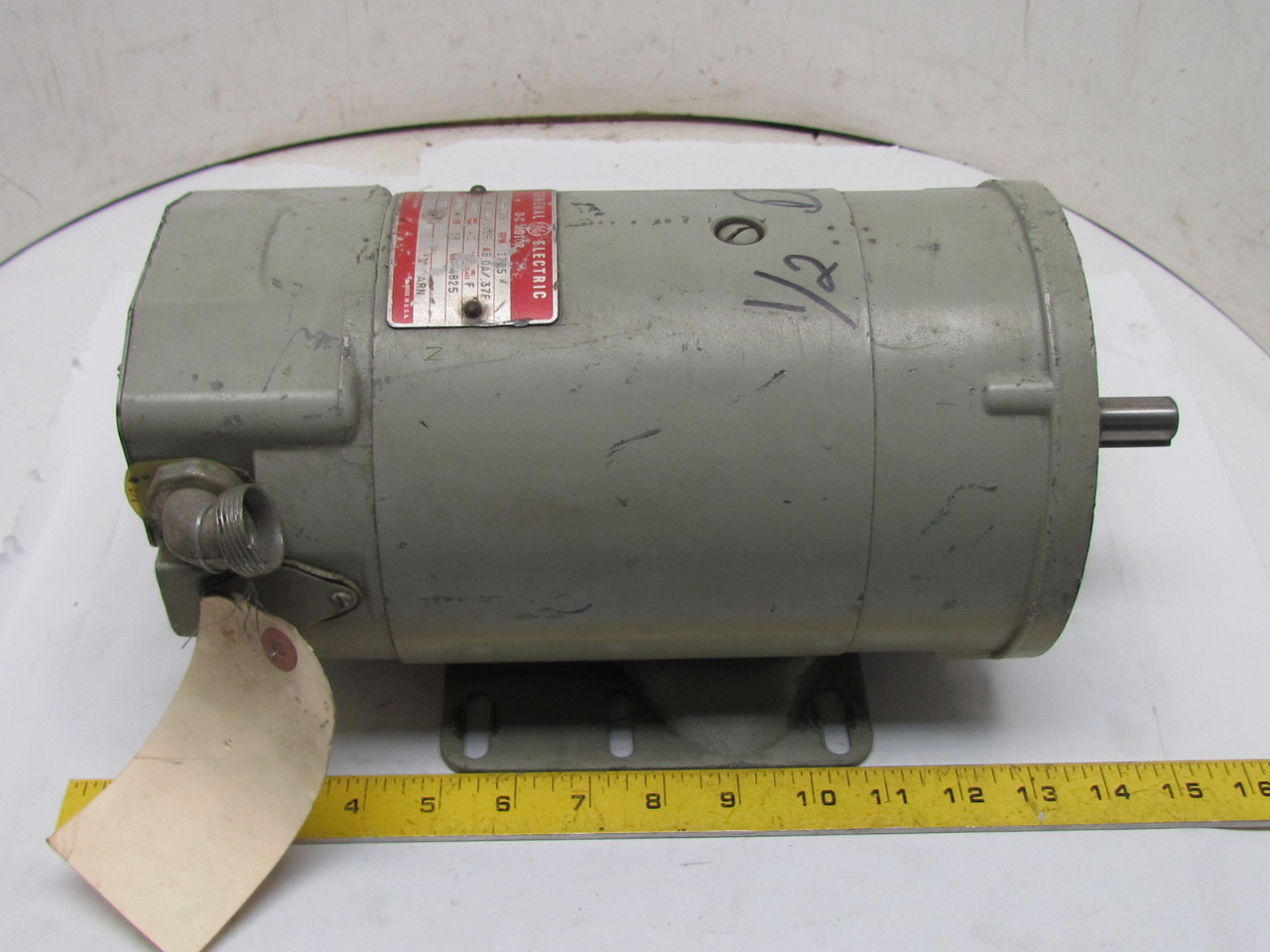 Ge 5bcd56nd88 shunt wound dc motor 1 2hp 90a 100f volt for 100 hp dc motor