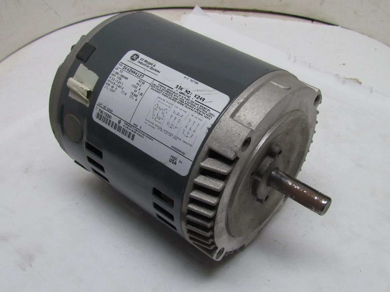 General electric 5k42hn4127 3ph ac motor 1 2hp 1725 rpm for 1 2 hp electric motor 1725 rpm