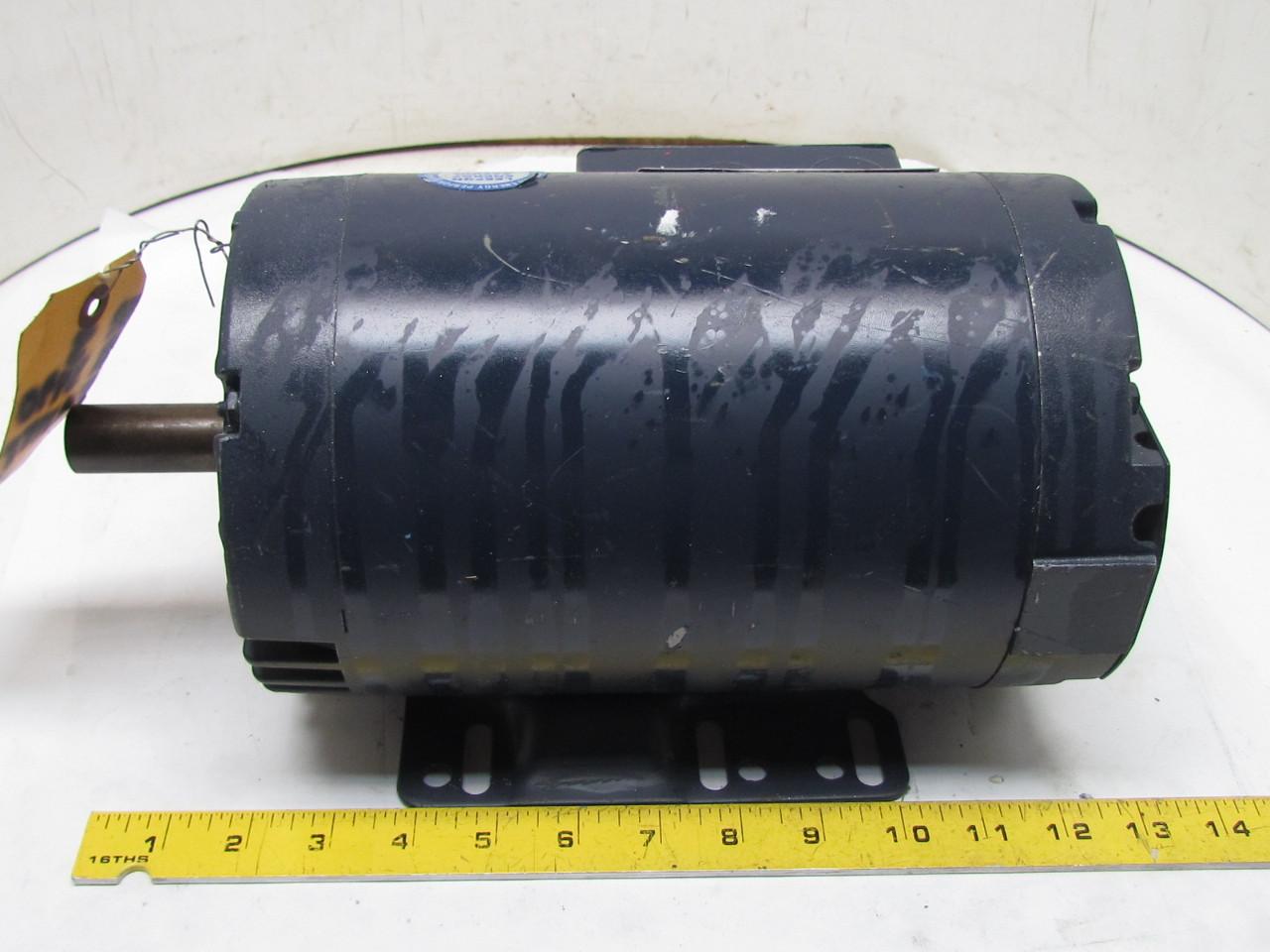 Leeson C145t34db13b 3ph Ac Electric Motor 3hp 3450 Rpm 208