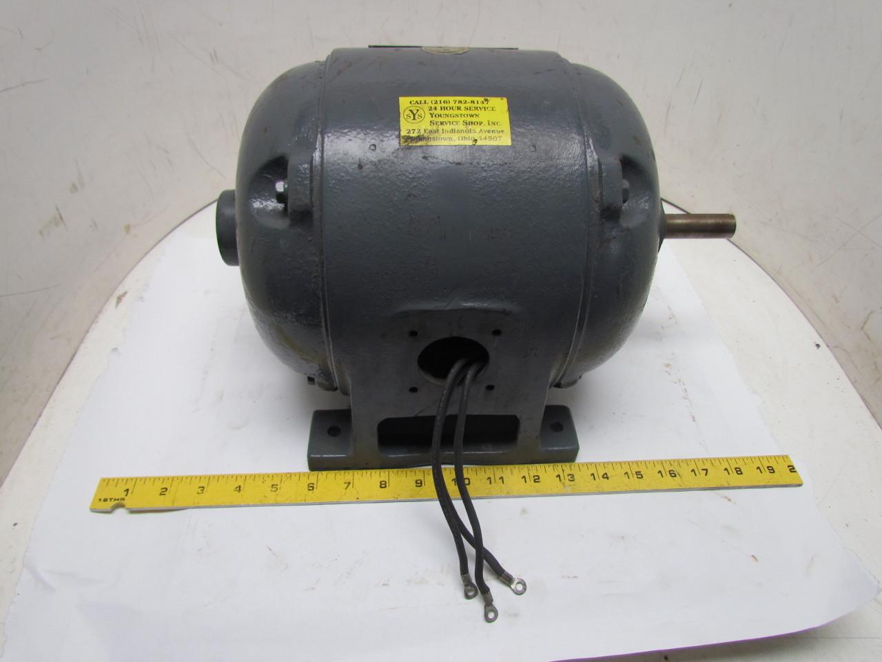 Ge 5k204e36 3 Phase 1hp 110v Vintage Electric Motor 1140