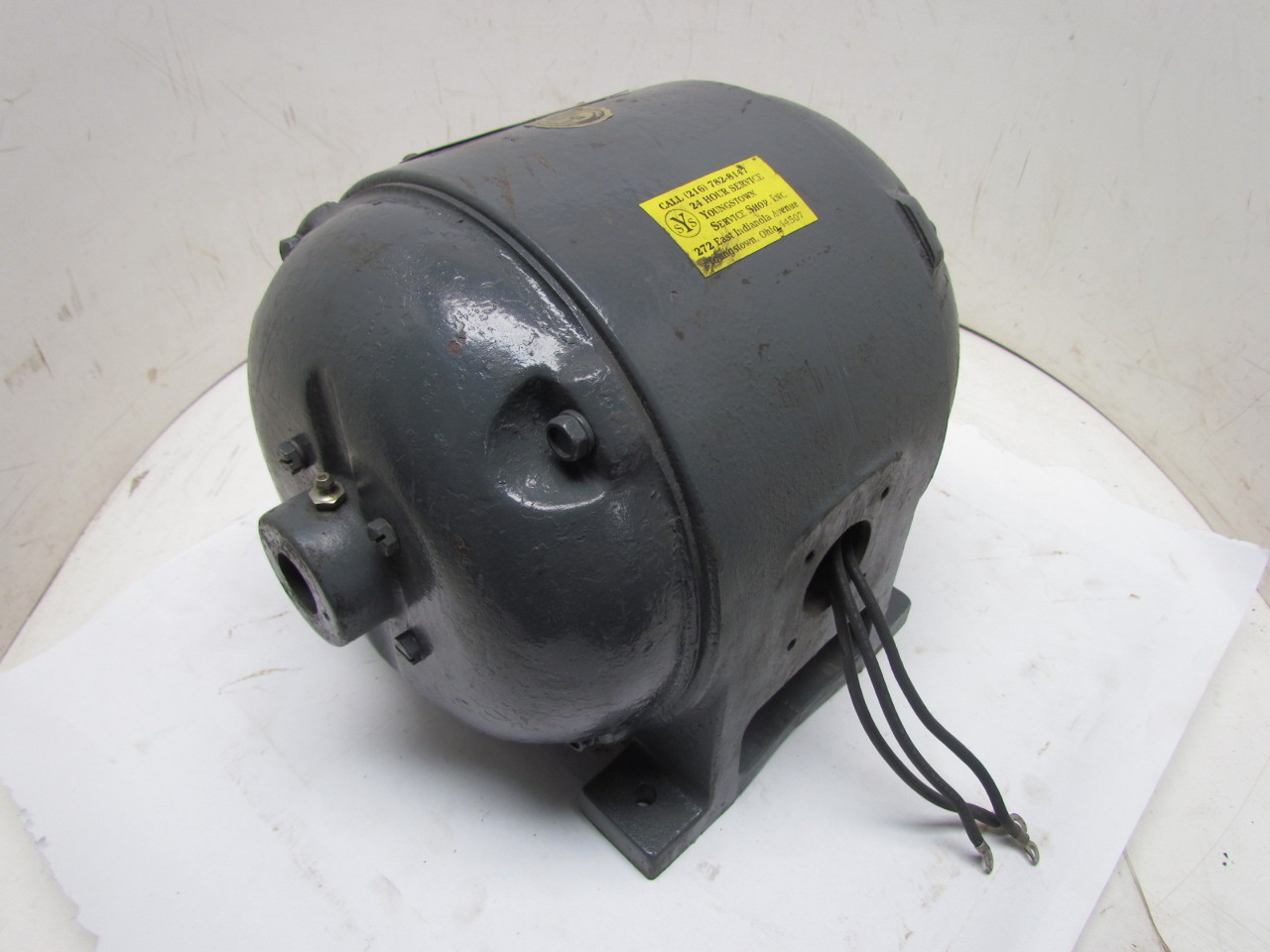Ge 5k204e36 3 Phase 1hp 110v Vintage Electric Motor 1140