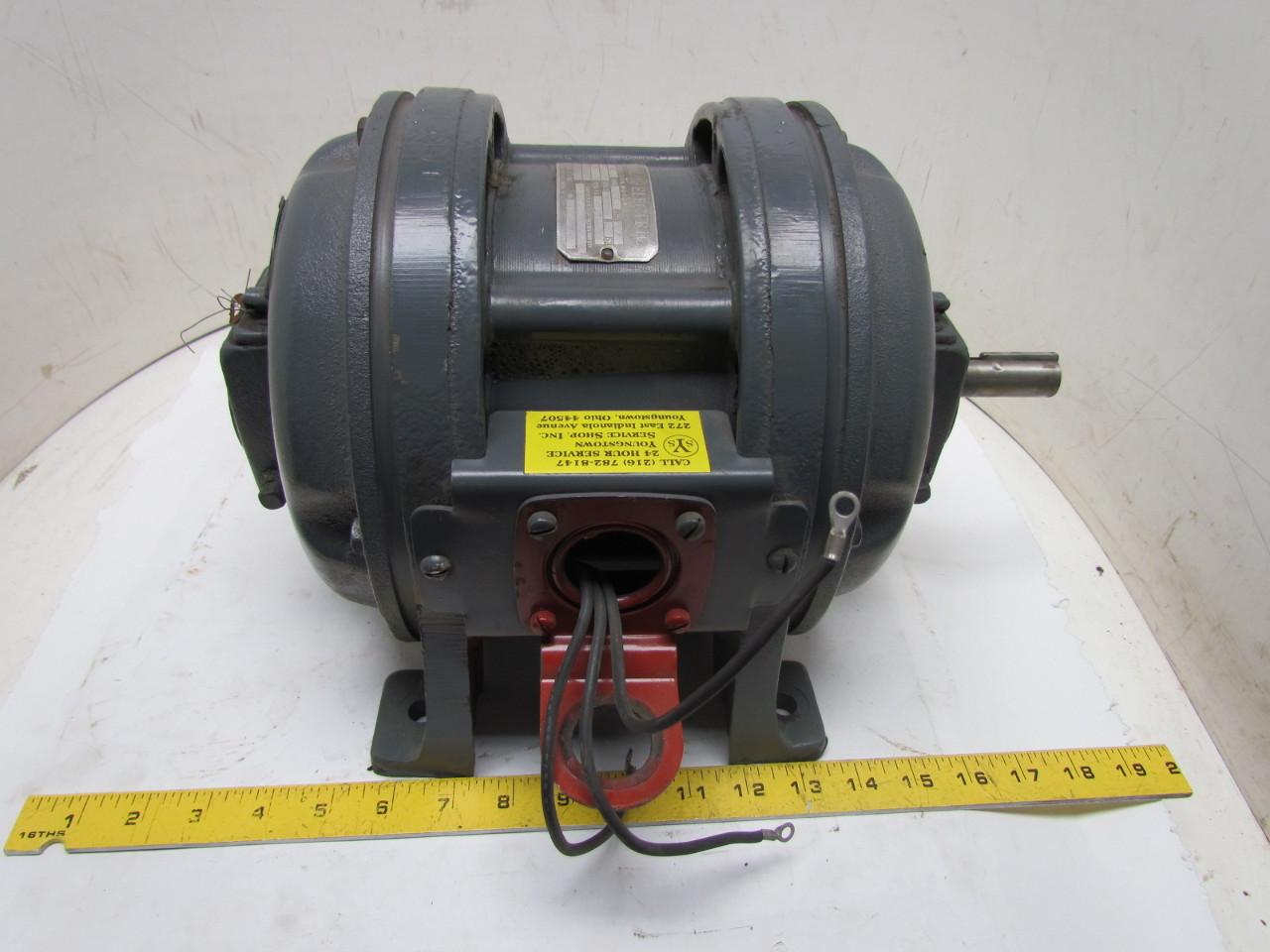 Ge General Electric 3 Phase 1hp 110v Vintage Motor 1720
