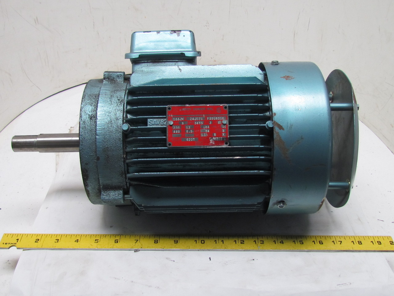 Leroy somer 24js2b 3 phase ac electric motor 5hp 3475 rpm for 3 phase dc motor