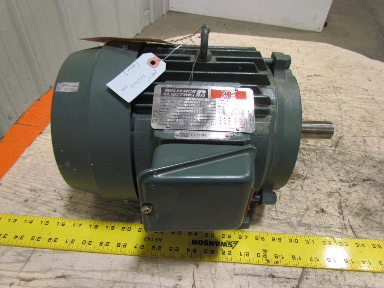 Reliance Electric P18g7405 Cg 3 Phase Ac Motor 5hp 3505