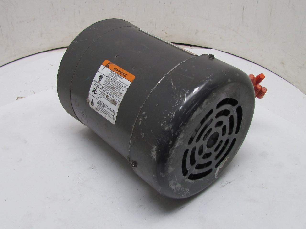 Dayton 3n471n 3 Phase Ac Motor 1 2hp 3450 2850 Rpm 208 220