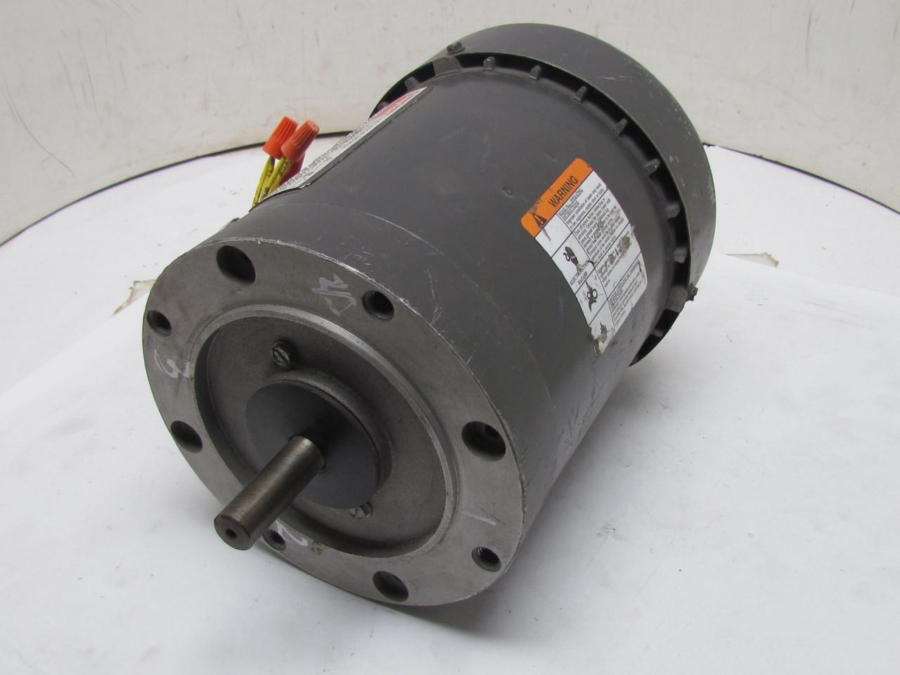 Dayton 3n471n 3 phase ac motor 1 2hp 3450 2850 rpm 208 220 for 1 phase ac motor