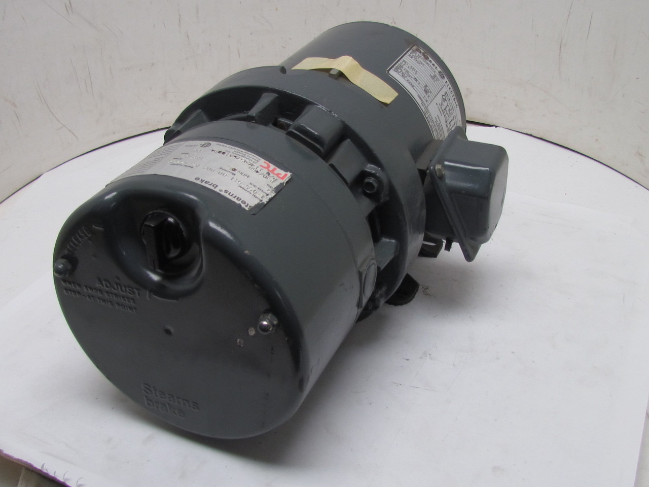 Ge general electric 5k42hg2701a 3ph motor 1 2hp 1725 rpm for Electrical braking of dc motor