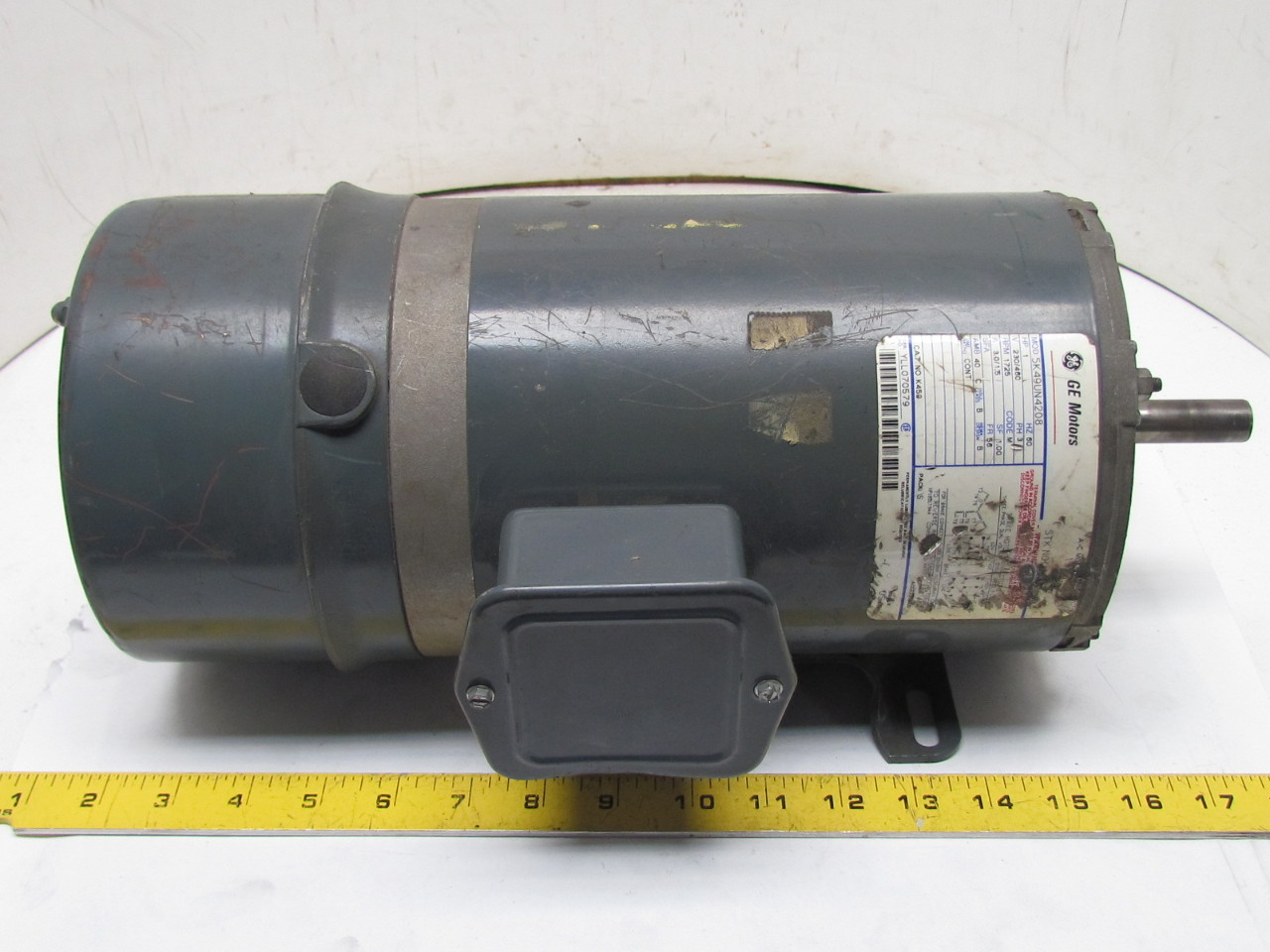General electric 5k49un 4208 3ph motor k459 1hp 1725 rpm for Electrical braking of dc motor