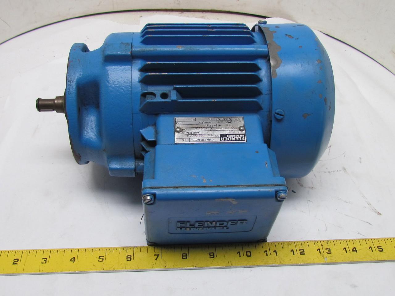 Flender himmel m2c4 3 phase ac motor 1hp 1690 rpm 208 230 for 1 4 hp 3 phase motor