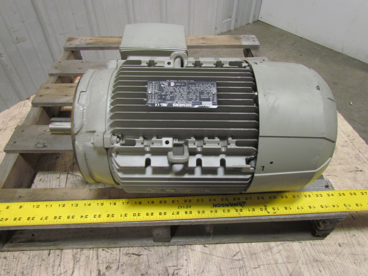 Siemens cp100a 3 phase aluminum ac motor 10hp 1755 rpm 208 for 10 hp 3 phase motor