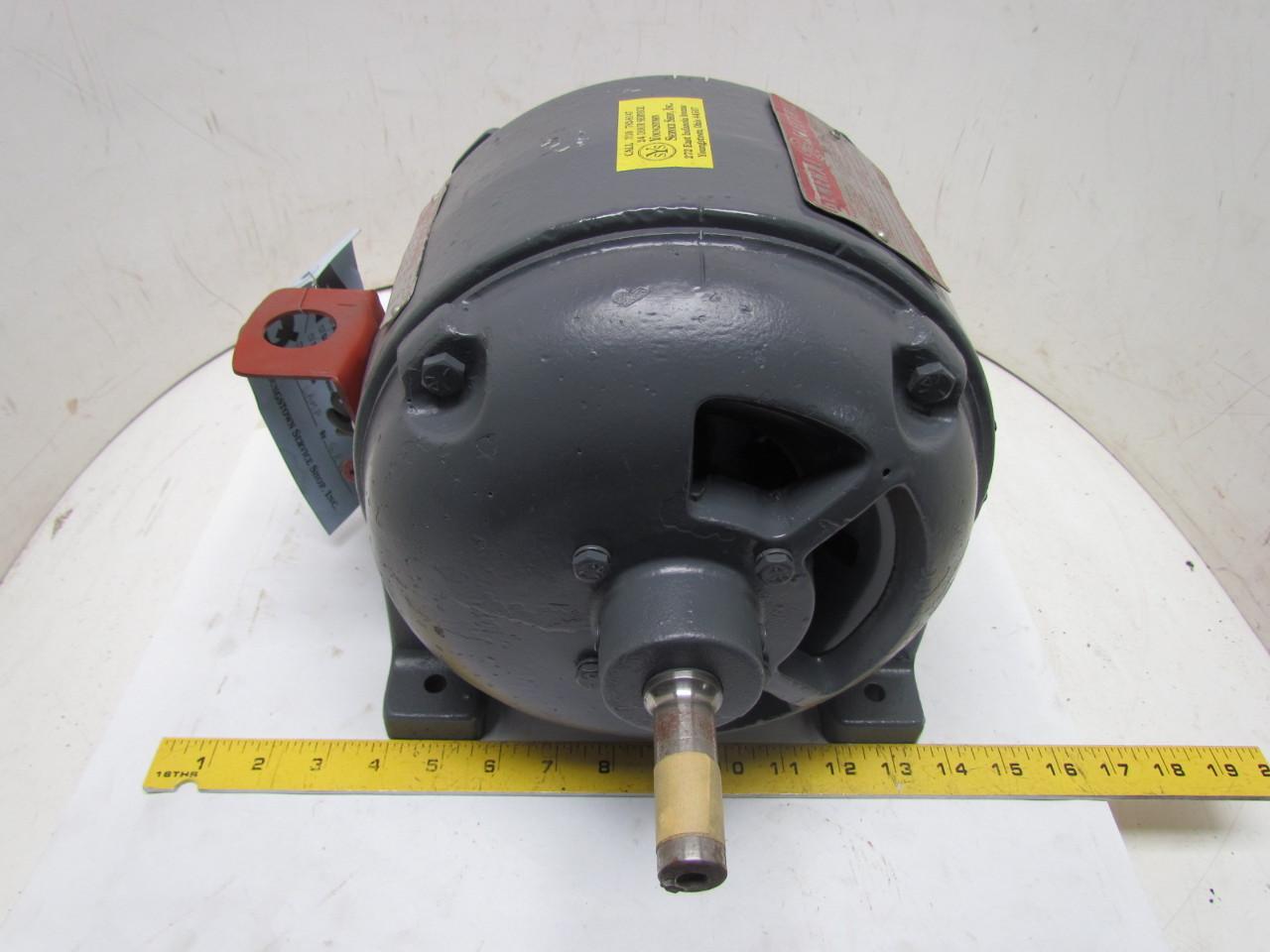 Ge cl3107 3ph 1hp 110 220v vintage motor 1720 rpm pre nema for 3 hp single phase 220v motor